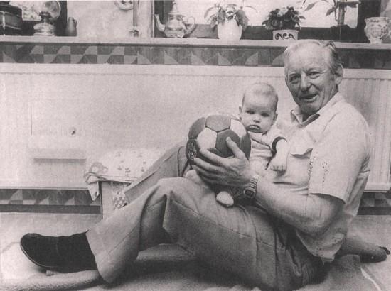 Wilimowski z wnukiem,