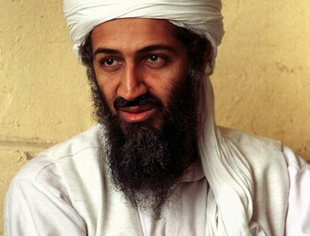 FILE - This April 1998 file photo shows Osama bin Laden in Afghanistan. Federal authorities dropped terrorism charges against bin Laden in court papers filed Friday, June 17, 2011, formally ending a case against the slain al-Qaida leader that began with hopes of seeing him brought to justice in a civilian court. U.S. District Judge Lewis Kaplan approved a request made by federal prosecutors to dismiss the charges — a procedural move that's routine when defendants under indictment die. (AP Photo, File)