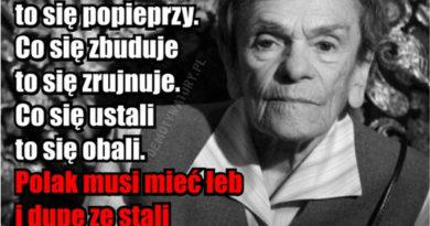 """No dno po prostu jest Polska"""